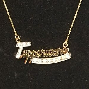 "14 Karat ""Tupperware"" Diamond Pendant Necklace"